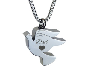 Dad Dove Cremation Urn Pendant