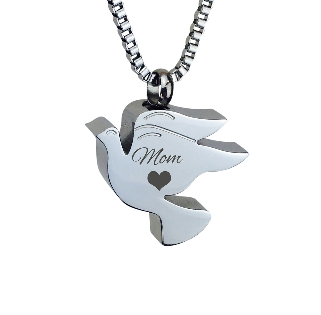 Mom Dove Cremation Urn Pendant