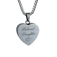 Beloved Daughter Hearts Cremation Urn Pendant