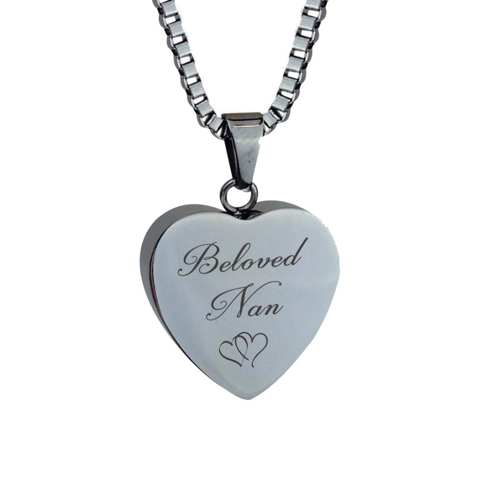 Beloved Nan Hearts Cremation Urn Pendant