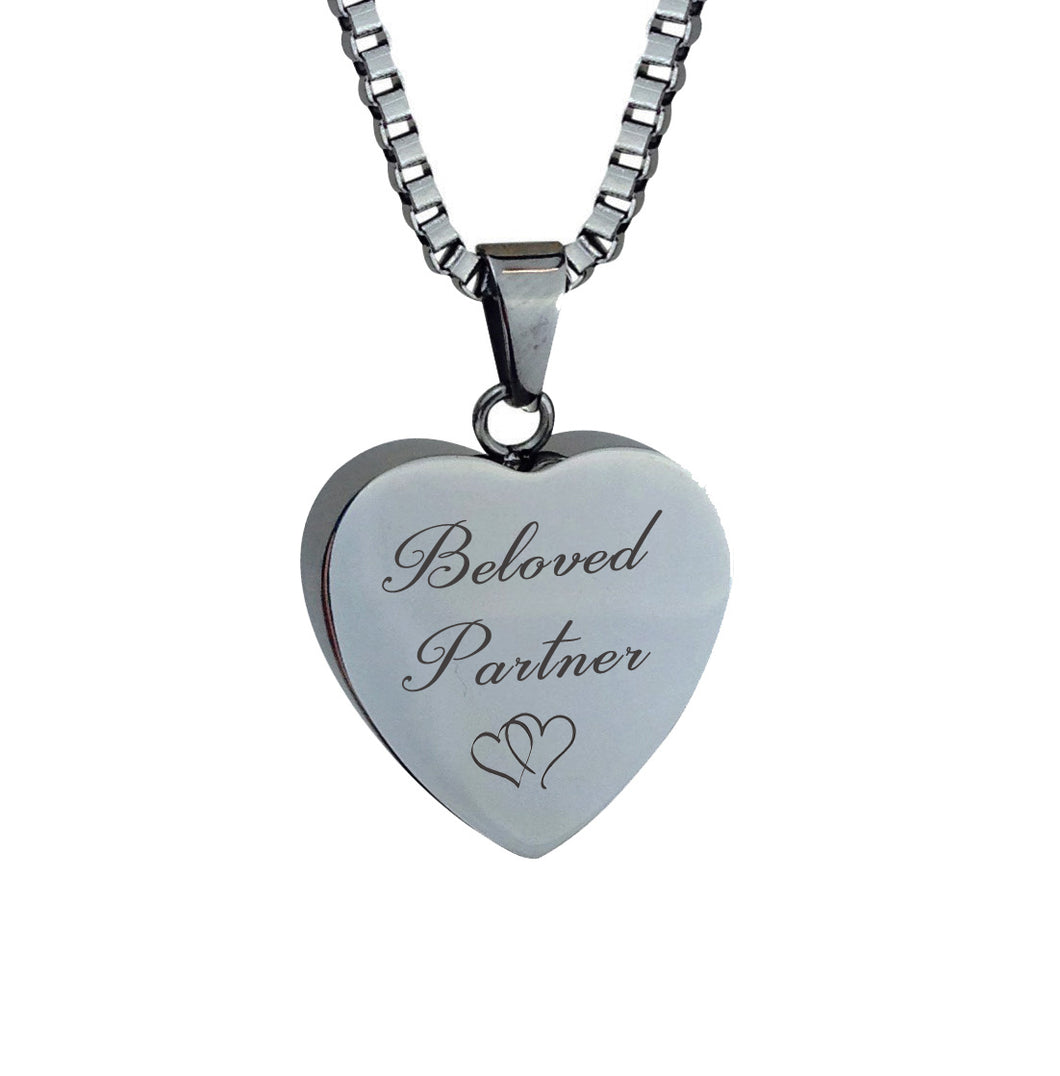 Beloved Partner Hearts Cremation Urn Pendant