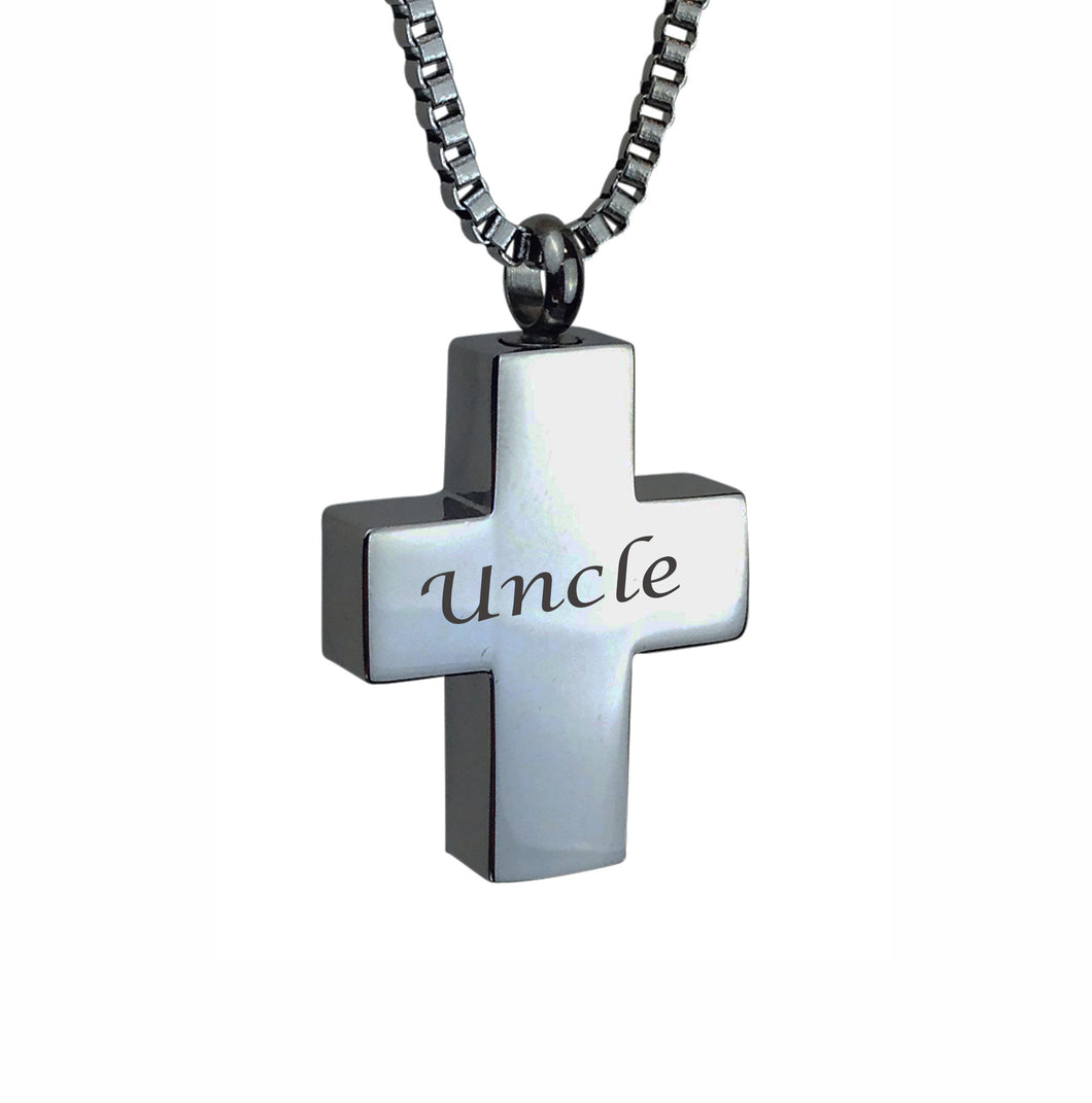 Uncle Cross Cremation Urn Pendant