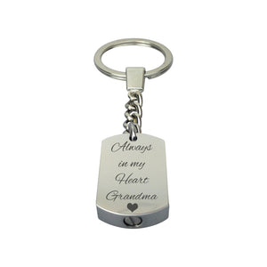 Always in my Heart Grandma Cremation Urn Keychain Keyring