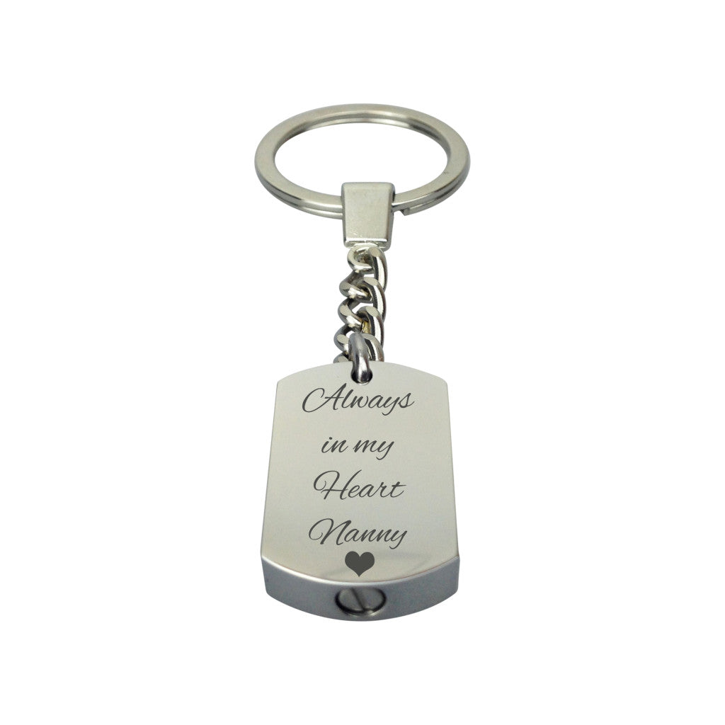 Always in my Heart Nanny Cremation Urn Keychain Keyring