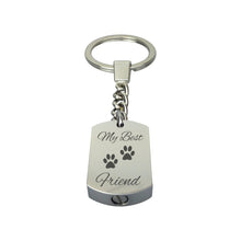 Best Friend Paw Print Cremation Urn Keychain Keyring