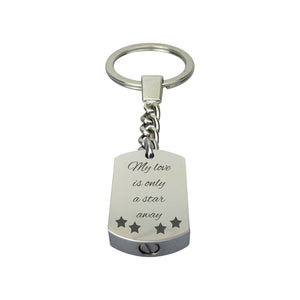 My Love Is Only A Star Away Cremation Urn Keychain Keyring