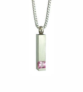 Quantum Pink Crystal Cremation Urn Pendant - Optional Personalisation