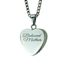 Beloved Mother Cremation Urn Pendant