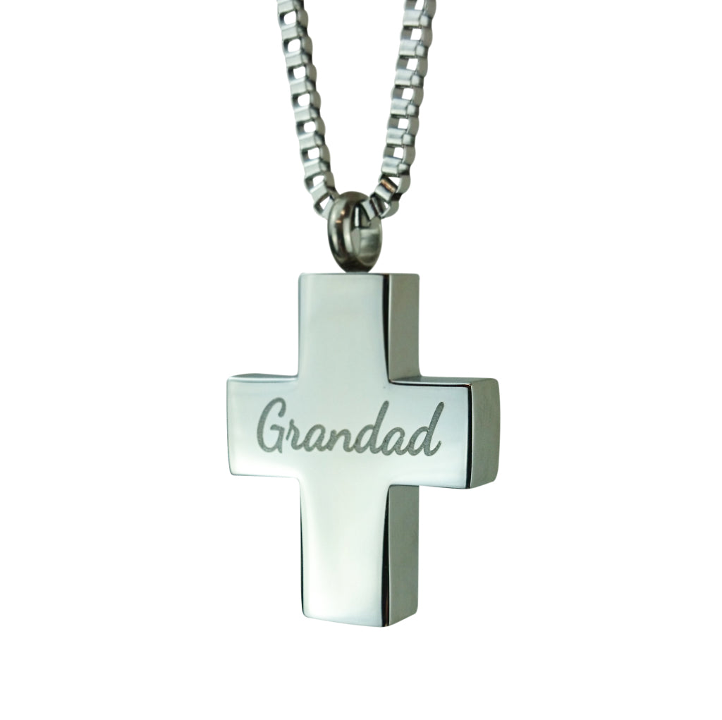 Grandad Cross Cremation Urn Pendant