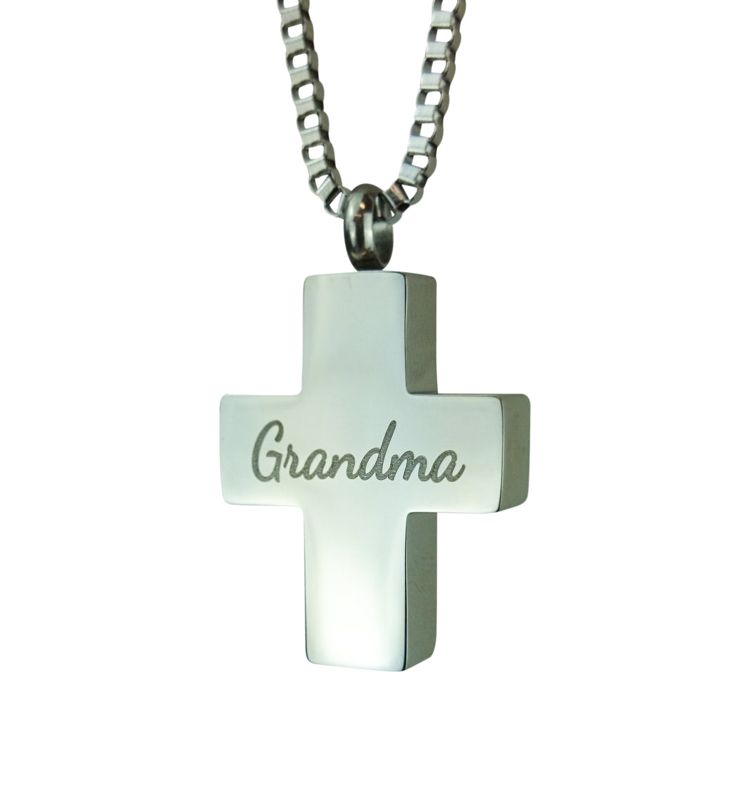 Grandma Cross Cremation Urn Pendant