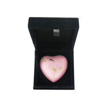 Baby Pink Footprints Heart Brass Keepsake Urn