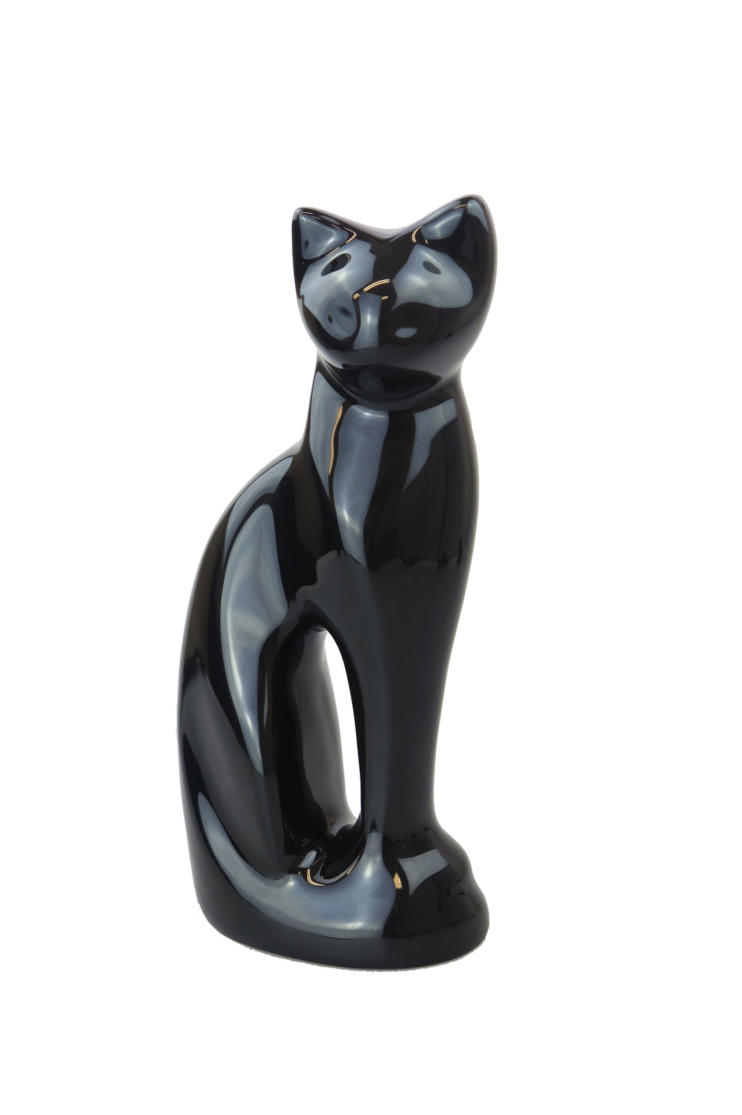 Black Cat Shaped Pet Urn