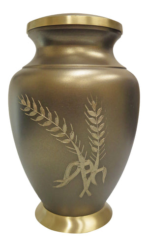 Large Brown and Gold Coloured Adult Brass Urn