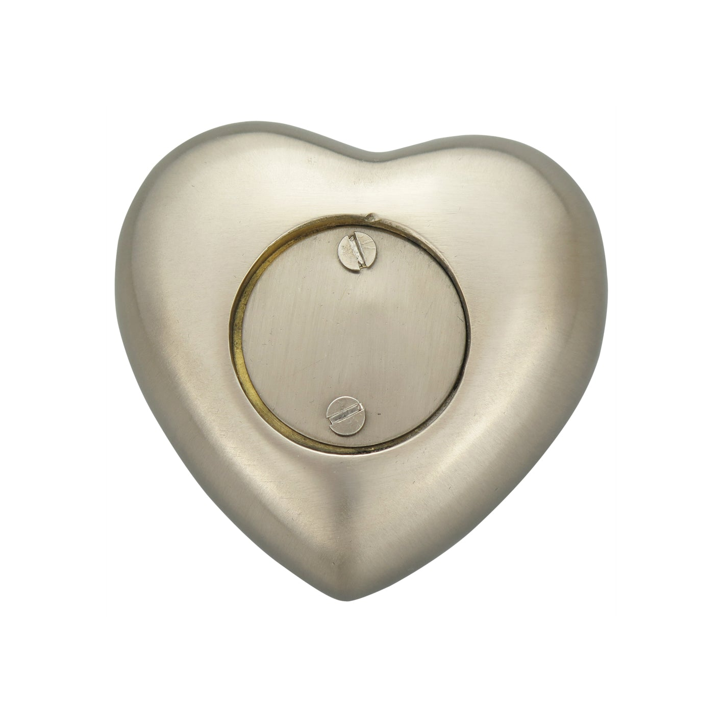 In Loving Memory Baby Personalised Silver Heart Brass