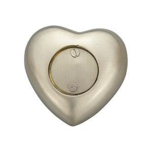 Personalised Patterned Silver Heart Brass Keepsake Urn