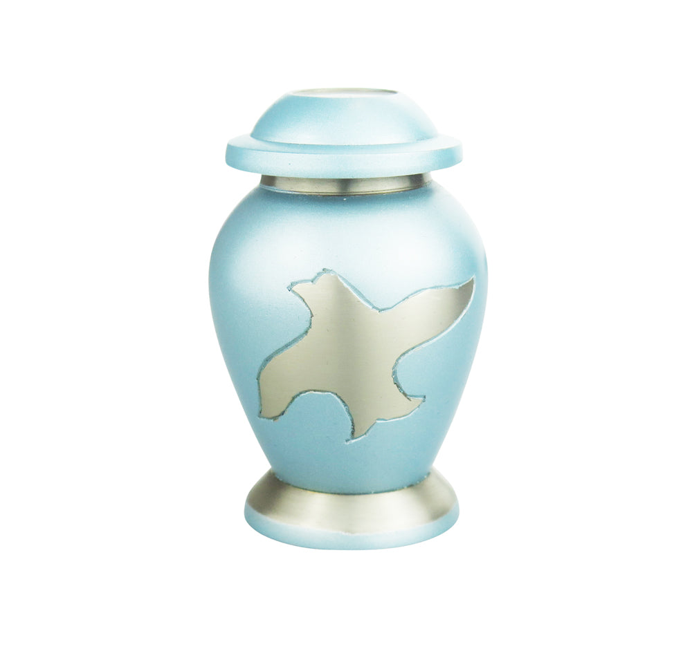 Miniature Powder Blue Dove Keepsake Urn