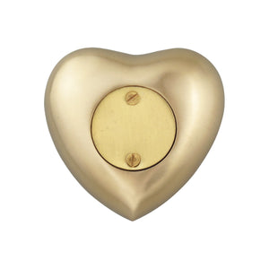 Always in my Heart Grandma Golden Butterfly Heart Brass Keepsake Urn