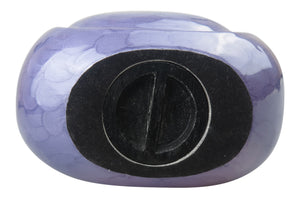 Large Lilac Enamel Teardrop Urn for Adult or Pet Dog Ash Cremains Memorial