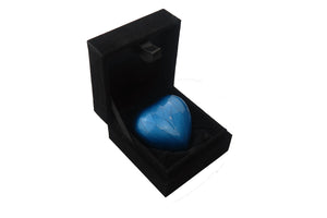 Royal Blue Enamel Heart Keepsake Urn
