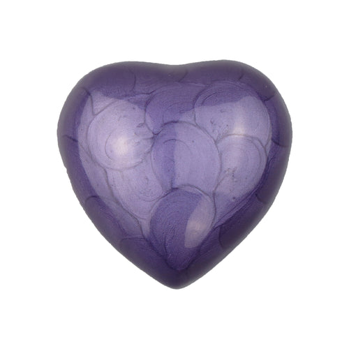 Royal Purple Enamel Heart Keepsake Urn