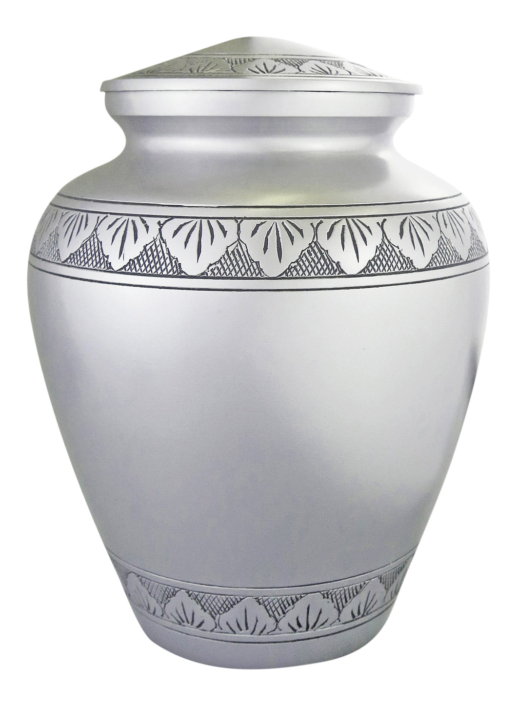 Large Aluminium Silver and Black Adult Urn