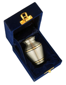 Miniature Silver and Gold Keepsake Urn