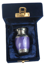 Miniature Silver with Purple Enamel Keepsake Urn