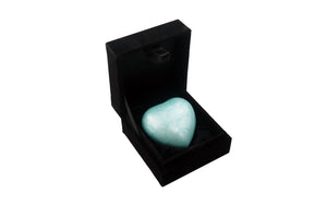 Sky Blue Enamel Heart Keepsake Urn