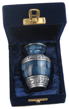 Miniature Blue Pattern with Silver Keepsake Urn