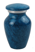 Miniature Turquoise Blue Marble Effect Keepsake Urn