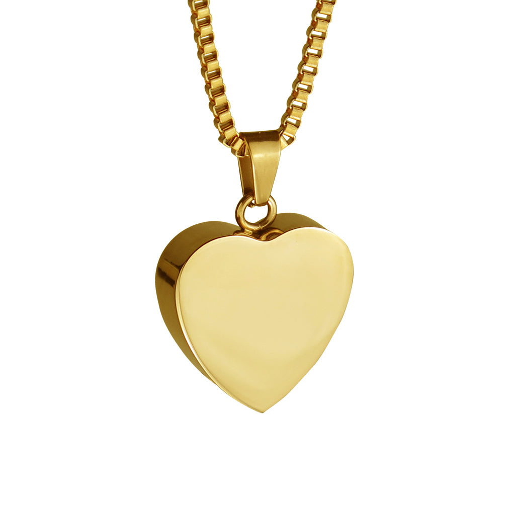 Gold Heart Cremation Urn Pendant