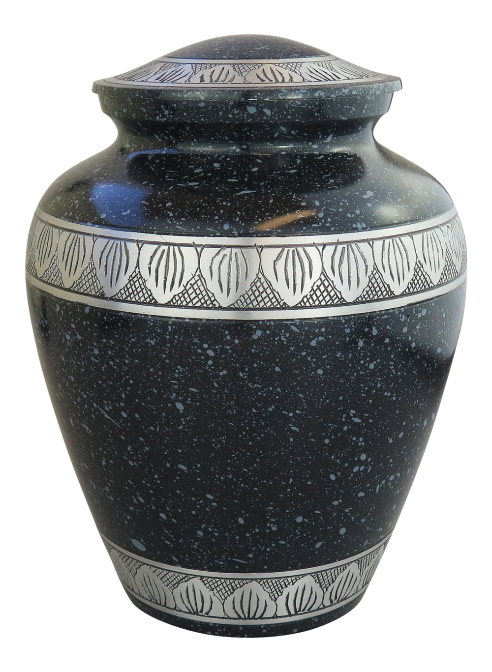 Large Aluminium Black & Silver Night Sky Adult Urn