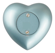 Baby Boy Blue Remembrance Personalised Heart Brass Keepsake Urn