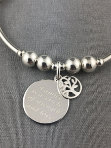 Sterling Silver Family Circle Stacking Bracelet