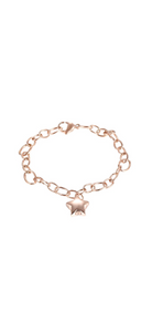 Rose Gold Gold Star Link Chain Urn Bracelet with Option Personalised Engraving