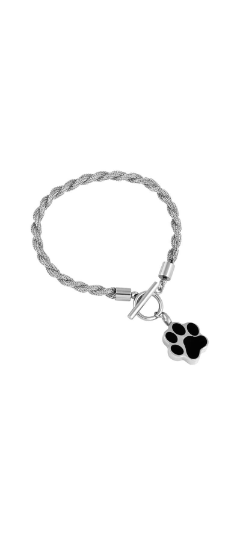 Silver Paw Urn Bracelet with Optional Personalised Engraving