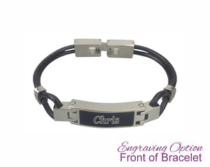 Contemporary Leather Urn Bracelet - Optional Personalisation