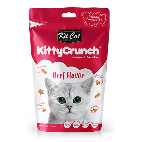 Kit Cat Kitty Crunch Treat Beef 60g