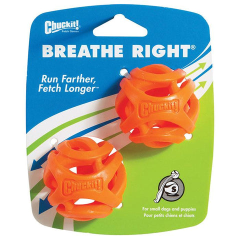 Chuckit! Breathe Right Fetch Ball 2pk Small