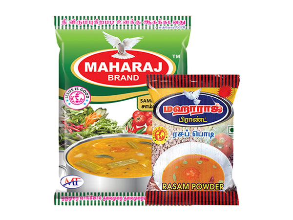 50g Sambar Powder + 5Rs Rasam Powder