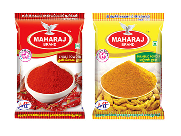 50g Maharaj Chilli Powder & 50g Turmeric Powder