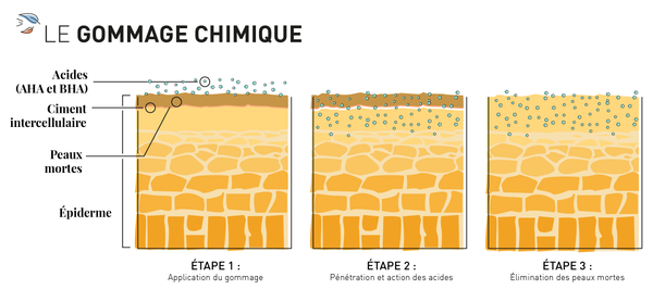 infographie gommage chimique