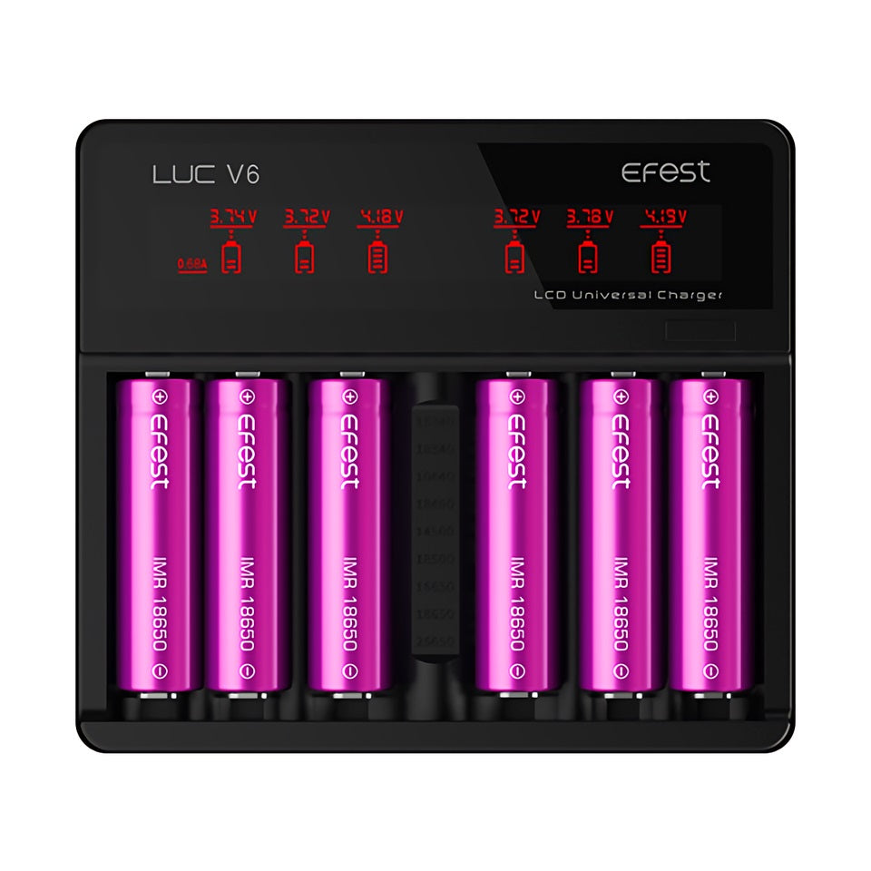 Efest LUC V6 charger with US plug and ca