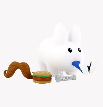 Buy Kidrobot Frank Kozik Happy Labbit Series 2 Moustache Burger