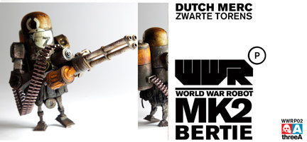 World War Robot WWRP MK2 Dutch Merc Bertie by Ashley Wood and ThreeA Vinyl Toys