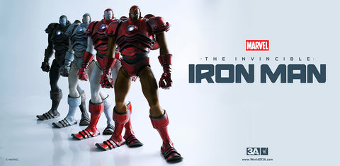 Classic Iron Man AND Silver Centurion Iron Man from ThreeA