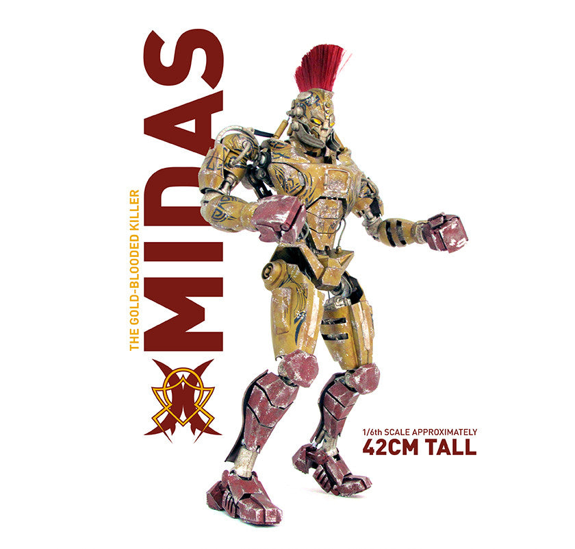 Real Steel King Midas One Sixth Gold Blooded Killer
