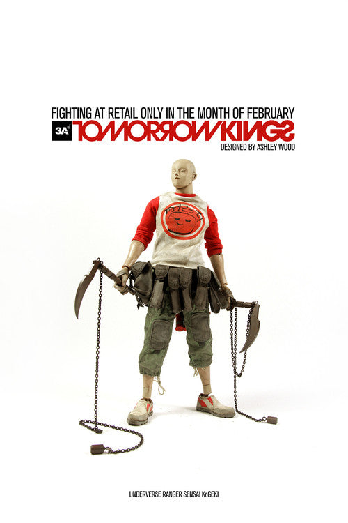 THREEA UNDERVERSE RANGER SENSEI KoGEKI (Red )1/6 Scale Figure 3A TOMORROW KINGS