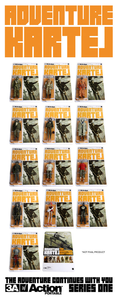 Adventure Kartel Action Portable Series 1 Set of 14 figures AP