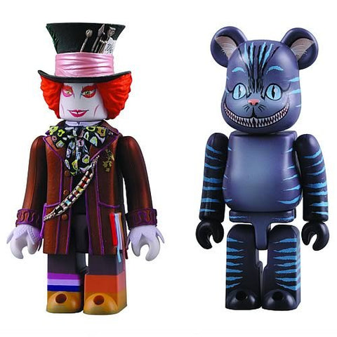 Mad Hatter and Cheshire Cat Kubrick/Be@brick Set by Medicom Japan